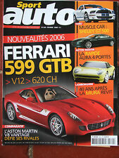 Sport Auto N°529 (fév 2006) Ferrari 599GTB - Aston Martin V8 - Shelby GT- Miura