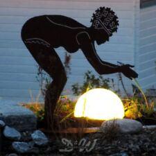 BADENDE aus Metall Garten Deko Figur EDEL ROST 75 cm D&W SCHWIMMERIN BADENIXE