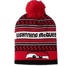 Disney Cars Lighting McQueen Warm Boys Winter Knitted Hats Beanie Pom Pom 2-8yrs