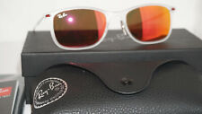 RAY BAN Sunglasses LightRay Clear Gunmetal Red Mirror RB4225 646/6Q 52 140