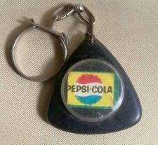 Pepsi Cola  Old Plastic Keychain Key Ring Rare