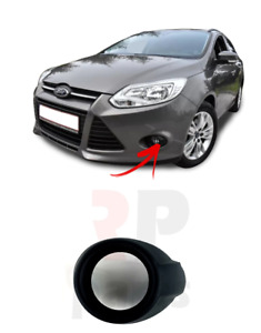 FOR FORD FOCUS MK3 11-14 BUMPER FOG LIGHT LAMP COVER SURROUND LEFT N/S BLACK