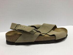 Birkenstock Tulum SFB Womens Sandal Suede Leather Taupe EUR39 US8 N 1016395