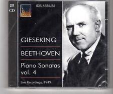 (HQ661) Gieseking, Beethoven Piano Sonastas Vol 4 - Sealed double CD