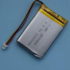 3.7V 1200mAh 603450 3Pin Batería recargable de Li-polímero con conector para GPS