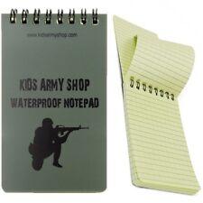 KAS Niños Ejército Soldado Bloc de notas papel resistente al agua A6 50 páginas portátil chicos jugar
