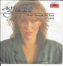 "45 TOURS / 7"" SINGLE--AGNETHA FALTSKOG (ABBA)--THE HEAT IS ON MAN--1983"