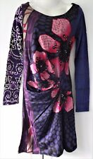 Desigual Ladies Dress 'MELBA MIDNIGHT' Purple&Multi, Size M
