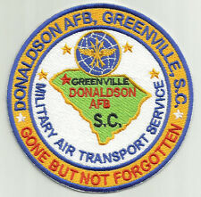 USAF BASE PATCH, DONALDSON AFB,GREENVILLE, S.C.,GONE BUT NOT FORGOTTEN. MATS