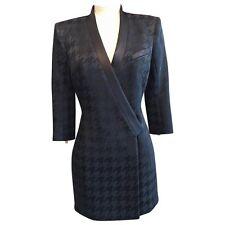 Balmain Black jacquard Structured Mini Dress Blazer BNWT UK 12 IT 44 FR 40
