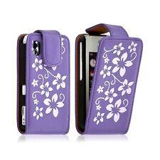 Housse coque étui pour Samsung Player One S5230 motif fleur couleur violet