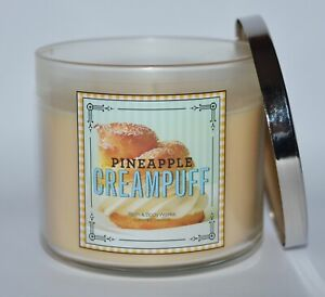 Bath & Body Works Ananas Crème Puff Bougie Parfumée 3 Wick 429ml Grand