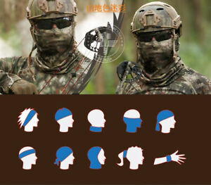 Airsoft Military Tactical Balaclava Headwear Face Mask Outdoor Camouflage Hiking