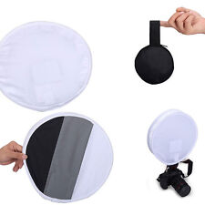 31cm Gray Round Card Diffuser Softbox for Speedlight Flash Stand White Balance