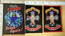 RARE WOVEN MASTERS OF THE UNIVERSE PATCH SKELETOR TRUMP HE-MAN HE MAN ETERNIA
