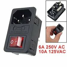 New Hot Sale Inlet Male Power Socket with Fuse Switch 10A 250V 3 Pin IEC320 C HY