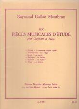 6 Six pièces musicales d'étude pour Clarinette et Piano