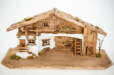 Weihnachtskrippe W11 aus Holz Krippe Weihnachtskrippen Stall Krippen Figuren