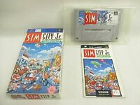 SIM CITY Jr. Item Ref/bcc Super Famicom Nintendo Import Japan Boxed Game sf