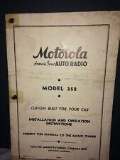 Motorola Auto Radio Installation Instructions For Model 352