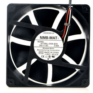 NMB-MAT 4715KL-05W-B49 12038 24V 0.46A 3-pin FANUC plug inverter fan