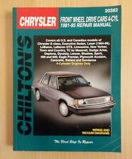 Chilton's Chrysler Front Wheel Drive Cars 4 CYL 1981 to 1995 Repair Manual