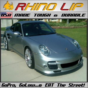 Porsche Boxster Spyder RhinoLip Rubber Flex Front Valance Chin Lip Spoiler Trim