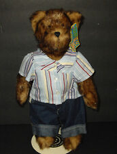 "2006 Boyds Bears Plush Super Duper Bear Factory 14"" Jointed BOY Bear NWT"
