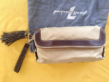 Seven For All Mankind Clutch Purse/Handbag - Beige with Brown accents
