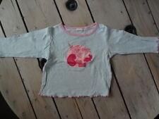 T-shirt manches longues bleu ciel imprimé fleurs roses New Delhi Taille 4 ans