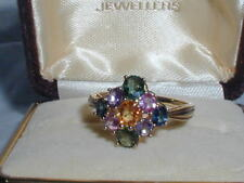 9 ct Gold Multi Gemstone Ring Topaz Spinel Citrine Garnet Sapphire