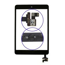 Black for iPad Mini Front Screen Touch Digitizer Glass Home Button Assembly GDSK