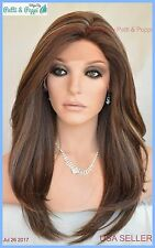 Swiss Lace Front Wig 4X4 Silk Top Hand tied Heat Safe FS8.27.613 Long Thick 1234