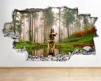Q585 Monkey Cartoon Kids Bedroom Smashed Wall Decal 3D Art Stickers Vinyl Room