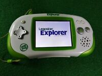 LeapFrog Leapster Explorer Green System Console Plus 6 Games ✅