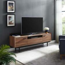 "Vision 71"" TV Stand in Walnut Black  Mid Century Modern"