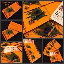 3 X Unique Real Peacock Feather Salami Shagun Wedding Diwali Gift Cash Envelopes