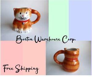 BW Boston Warehouse Corp Ceramic Cat Kitty Pussycat Coffee Mug Cup