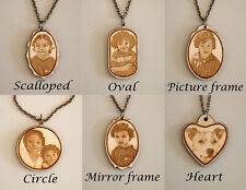 Laser Engraved Wooden Pendant With Your Photo
