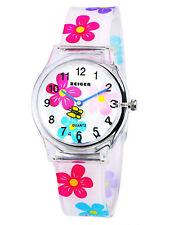 Zeiger Kids Floral Watch Time Teacher Silicone Band Girls Teens Wrist Watches