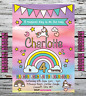 10 PERSONALISED BIRTHDAY PARTY INVITATIONS INVITES GIRLS UNICORN ANY AGE +ENV