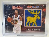 2020-21 NBA HOOPS JAMES WISEMAN  RC ROOKIE SWEATER 2 COLOR-PERFECTLY CENTERED!🔥