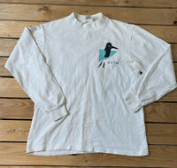 Men's Long Sleeve Vintage Ski Alta t Shirt Size M White C2