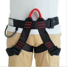 US Safety Rock Tree Climbing Rappelling Harness Seat Sitting Waist Belt Outdoor