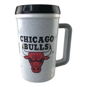Vintage 1993 Chicago Bulls NBA Insulated Beverage Mug (22oz) Super Thermo w/ Lid