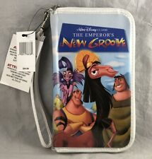 Disney Parks Vhs Emperor's New Groove Vinyl Zip Up Case Wallet Wristlet - New