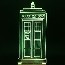 Cool Doctor Who TARDIS LED Desk Light Multi-colored Police Box Lamp