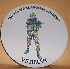 3rd Regimiento veterano 9cm BTN Royal Anglian Vinilo Sticker Personalizado..