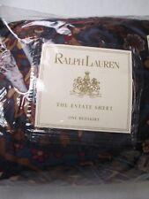 New RARE Ralph Lauren Brentford Jewel Tone Dust Ruffle Bedskirt - King