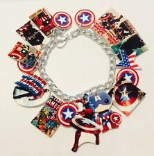 Captain America Steve Rogers Chris Evans Loaded Handmade Bracelet Plastic Charms